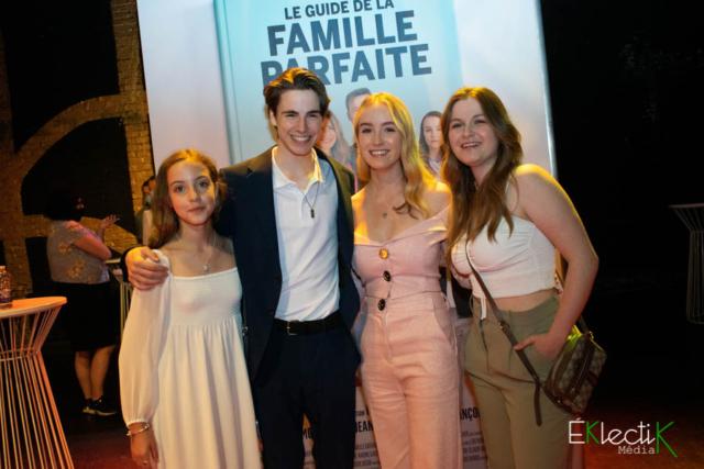 Raphaëlle, Justin et Delphine Cloutier-Morissette et Émilie Bierre