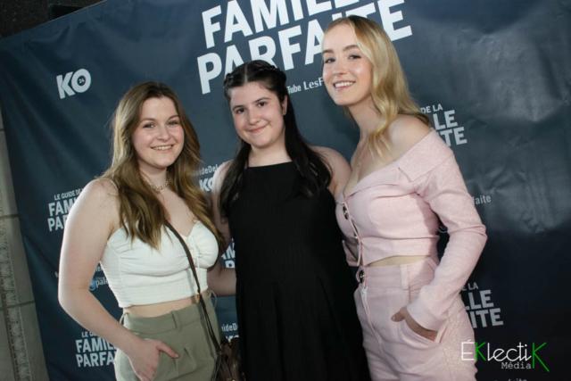 Delphine Cloutier-Morissette, Alice Déry et Émilie Bierre