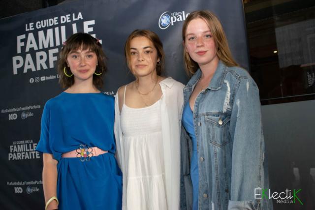 Léanne Désilet, Émie Theriault et Laurence Deschênes