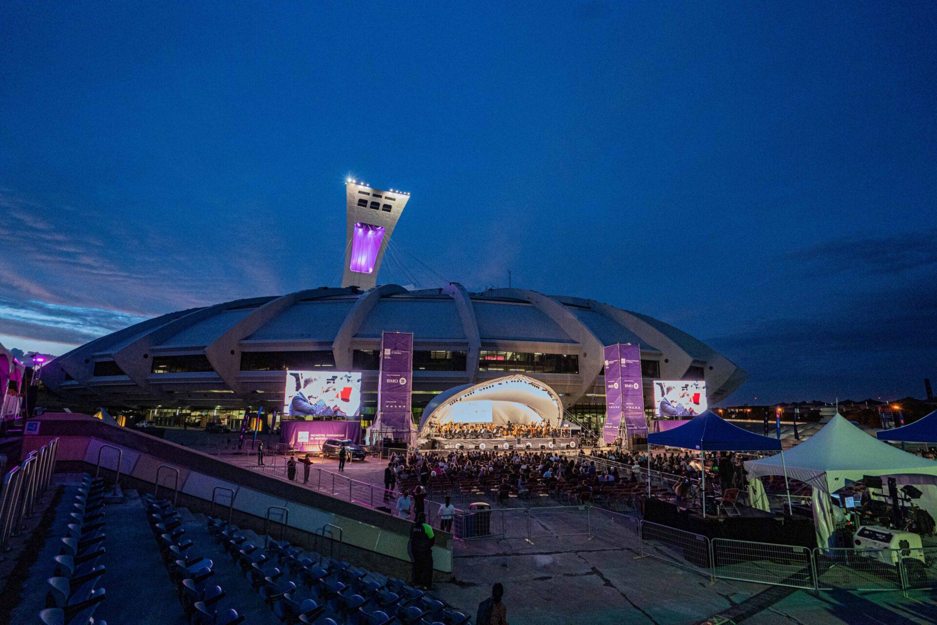 L'OSM : concert au Parc Olympique de Montréal